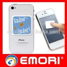 Functional photo print smartphone PU screen cleaner sticker