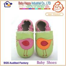 Guangzhou factory soft newborn baby hard sole walking shoes