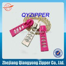zipper manufacturer 5# non lock colored zipper pull