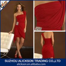 Best Selling Sheath One Shoulder Ruffle Chiffon Cocktail Dress 2013