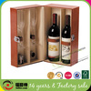 Luxury High-quality Orange Leather Wine Carrier