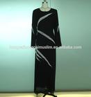 Dubai islamic black abaya long muslim jilbab women wear hijab dress