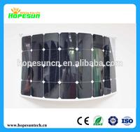 High efficiency semi flexible solar panels 75W sunpower solar module