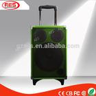 "8""mini round vatop bluetooth green audio speaker with led light adapter"