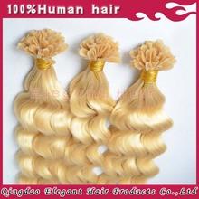 100% human hair extension keratin u tip 32