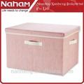 Personalizado naham tela cajón de almacenamiento caja/tela plegable caja de almacenamiento