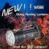 5000 lumens 5 led 200 Deep Diving Fishing Light , Rechargeable LED Flashlight WG66