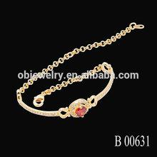 Adjustable Girls Clear Zircon Dubai Gold Bracelet