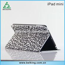 Luxury Leopard PU Leather Case For iPad Mini Tab, for iPad mini Tab stand leather case
