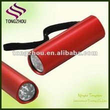 Cheap 9 LED torch/mini flash light/LED aluminum torch