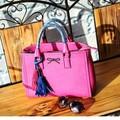 china wholesale kunstleder rosa beliebte handtasche