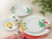 Christmas design porcelain round tableware , Xmas table set , christmas tableware