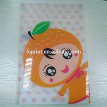 A4 L shape plastic PP file folder with pocket