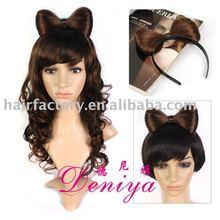 synthetic hair pieces hair bow lady gaga