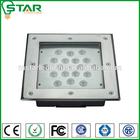 LED square ip67 18w sidewalk rgb led inground light
