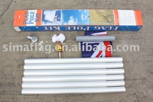 4.8m aluminum flag pole with flag and all accessory