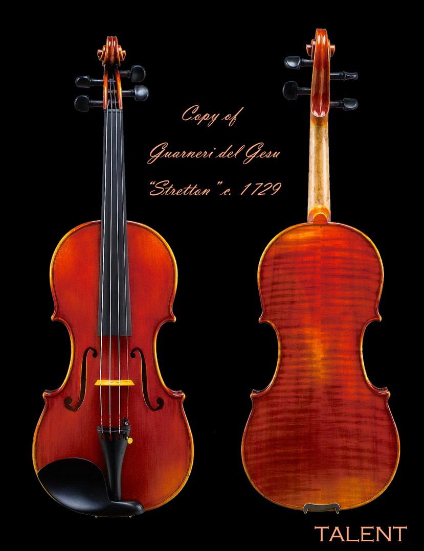 """* Deluxe Violin (""""Copy of Guarneri del Gesu """"Stretton"""" c. 1729)"""