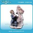 Two Couples Romantic ceramic wedding figures