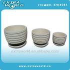 ceramic plant pot with pedestal