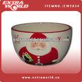 Navidad de cerámica sopa cuencos