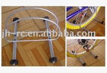 PORTABLE INDOOR/OUTDOOR ROLLING BIKE STAND BICYCLE RACK