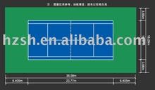 Floor size chart of Tennis sports floor
