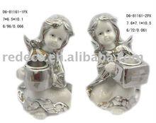 Electroplated ceramic cherub gift