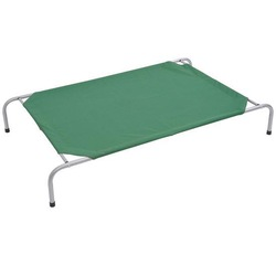 "43"" x 31"" Elevated Portable Camping Pet Cot Dog Bed - Green"