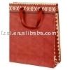 LKPB024 Ribbon handle Kraft paper gift bag