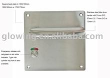 Stainless Steel Square Plate Door Handle