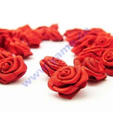 Artesanal de cetim fita rosas