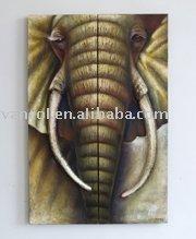 elephant oil paintings
