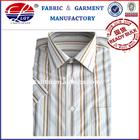 men's wrinkle-free stripe dress shirt(100% cotton short sleeve shirt)