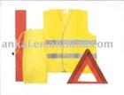 safety kit, Car emergency kit &auto safety kit (safety vest CE EN471 & warning Triangle)