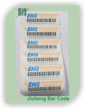 Bar code adhesive label