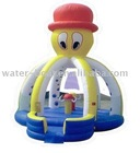 Cute inflatable octopus bouncer, inflatable octopus jumping house