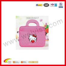 hot-selling! cute bag business binder zipper portfolio leather briefcase animal pattern for ipad mini