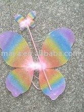Rainbow angel wing and Magic wand