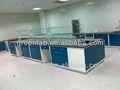 Tabelas de teste, equipamentos de laboratório, mobiliário de laboratório