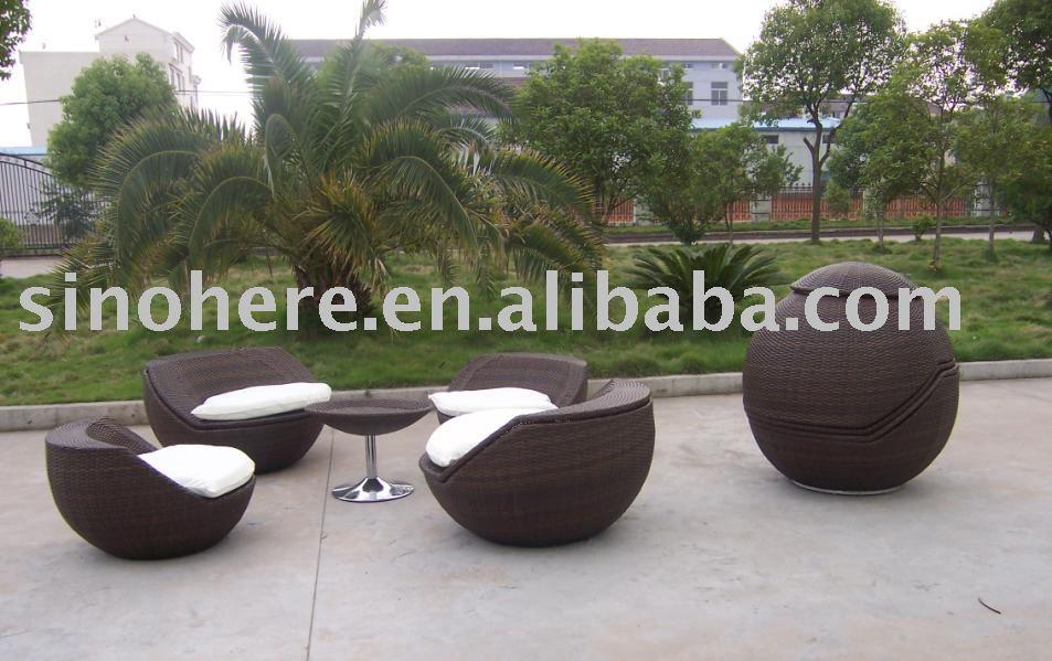 mobiliario de jardim em rattan sintetico:Exposto móveis de vime cadeira AK1038-Conjuntos de jardim-ID do