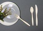 gold plastic cutlery