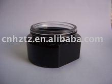 black coated glass one side flat cosmetic bottle jar