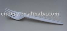 PS2802 15.4cm disposable plastic white fork