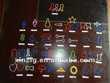 2012 colorful customize shapes rubber band