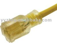 Power cord plug power supply cord 5-15R clear light indicator