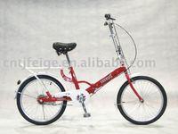 "20"" steel red foldable bike"