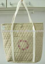 Embroidered tote bag fashion bag