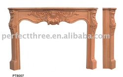 PT8007 Wood Carved Fireplace Mantel