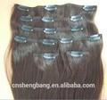 clips en la extensión del pelo de buena calidad remy del pelo clips en el pelo