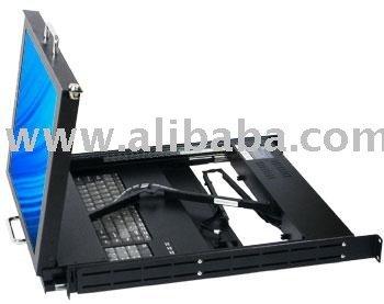 DMK-900 series dual slide rail rackmount KVM consoles with 17 inch LCD